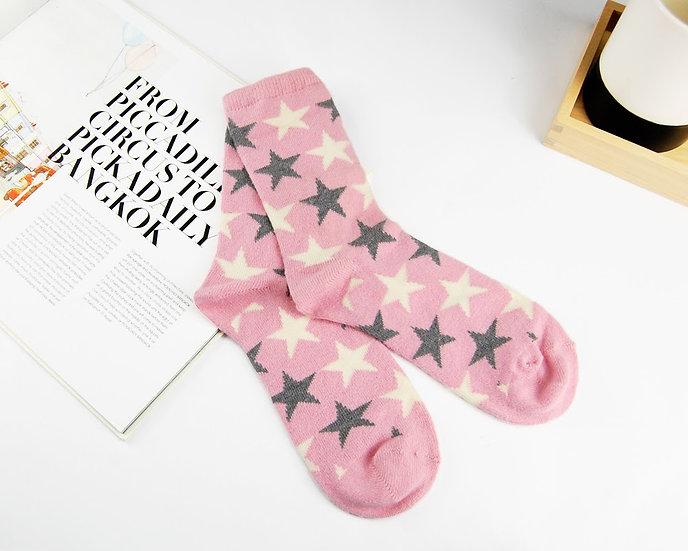 ถุงเท้า Wool Pink x Star