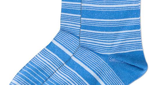 Streaking Stripes Crew Socks - Blue