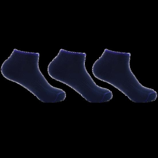 ถุงเท้ากีฬา Daily by Pally 3 คู่แพ็ค สีล้วน