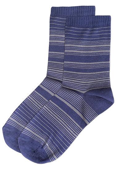 ถุงเท้าข้อยาวลาย Streaking Stripes - สีน้ำเงินม่วง