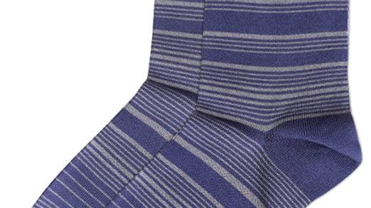Streaking Stripes Crew Socks - Indigo