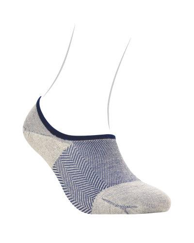ถุงเท้าผู้ชาย Herringbone Tweed No Show - Loafer Cut