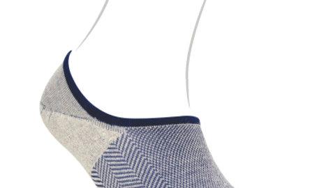 Emoo Herringbone Tweed No Show Socks - Loafer Cut Size 9-11
