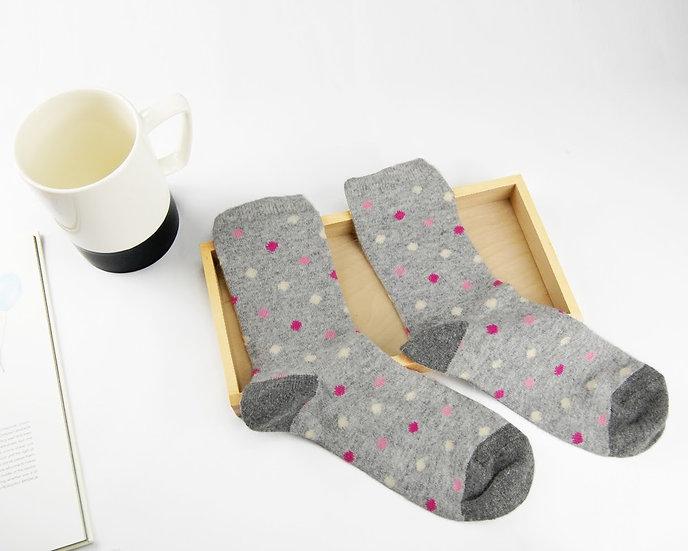ถุงเท้า Wool Grey x  Mini Poka Dot
