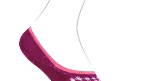 Emoo Checked Tweed No Show Socks- Deep Cut Size 4-6