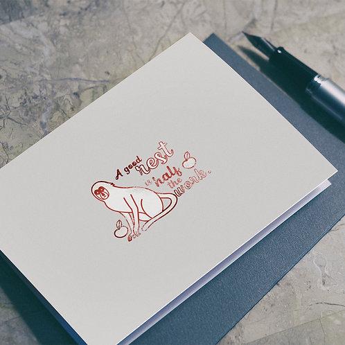Wise Saying Seals illustration - Monkey