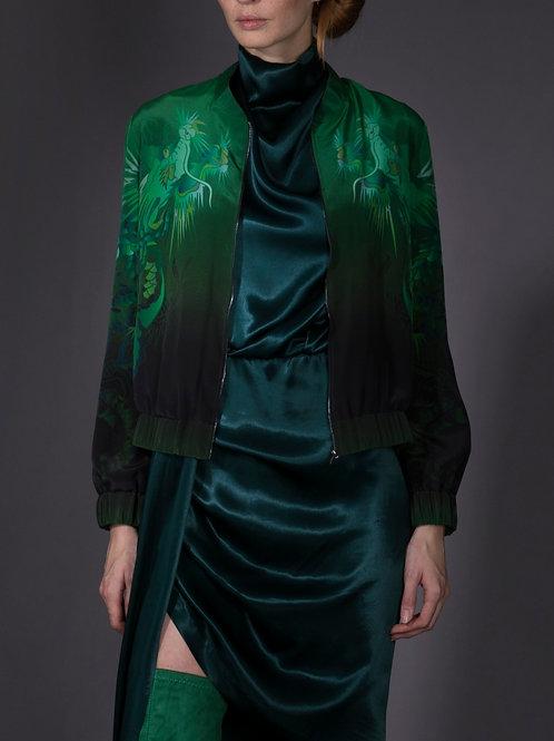 Green Silk Beast Bomber