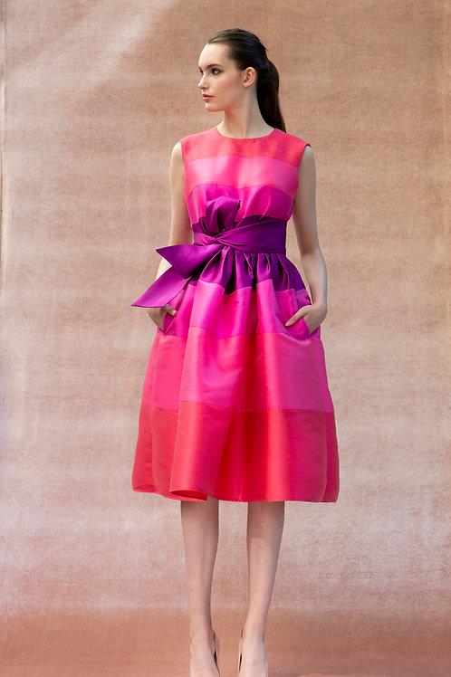 Pink to Purple Stripes Stella Dress