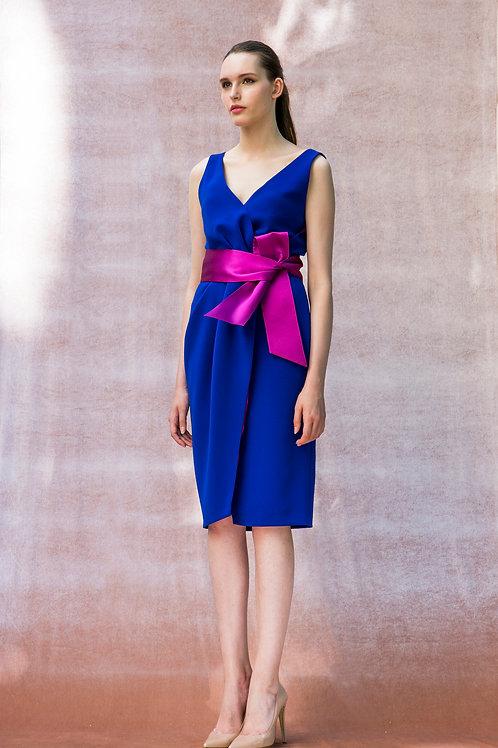 Cobalt Maarja Dress with Purple Belt