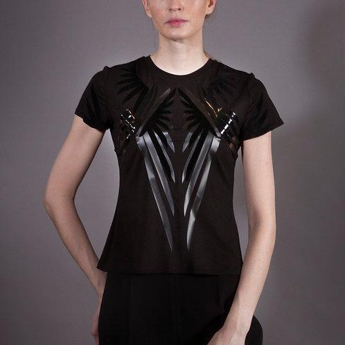 Black Bamboo Wings T Shirt