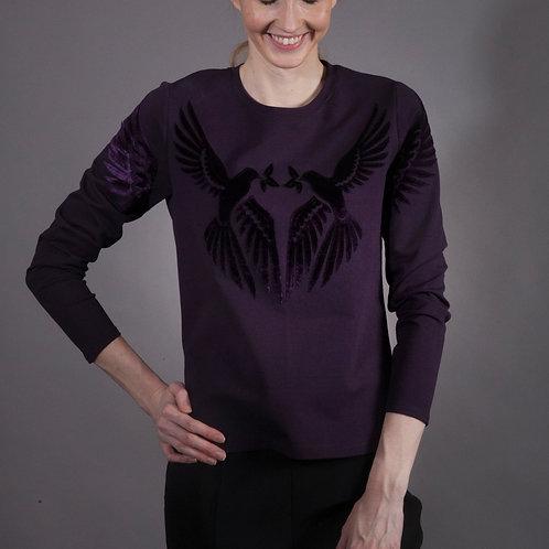 Lovebirds Sweatshirt Dark Purple