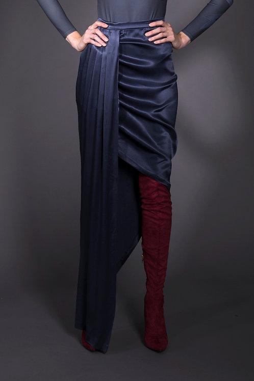 Dark Gray Draped Skirt