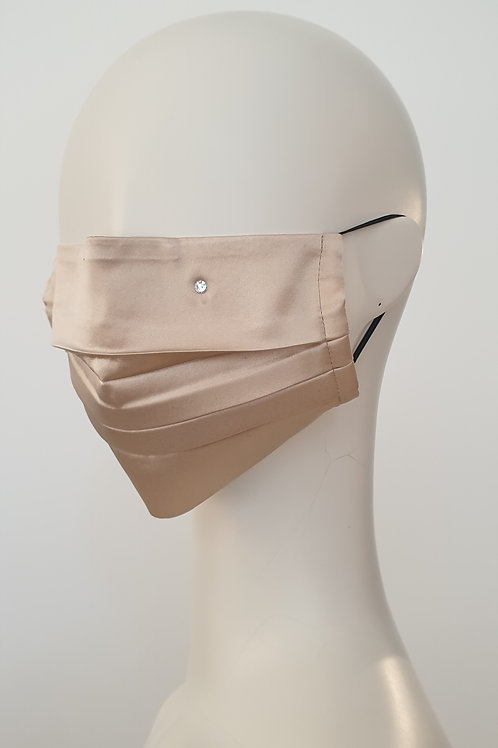 Silk Face Mask Beige
