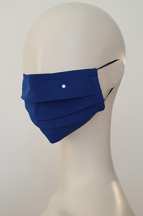 Silk Face Mask Blue