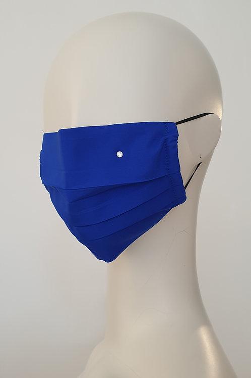 Silk Face Mask Royal Blue