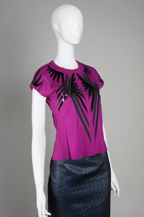 Purple Wings T Shirt with Long Shoulder