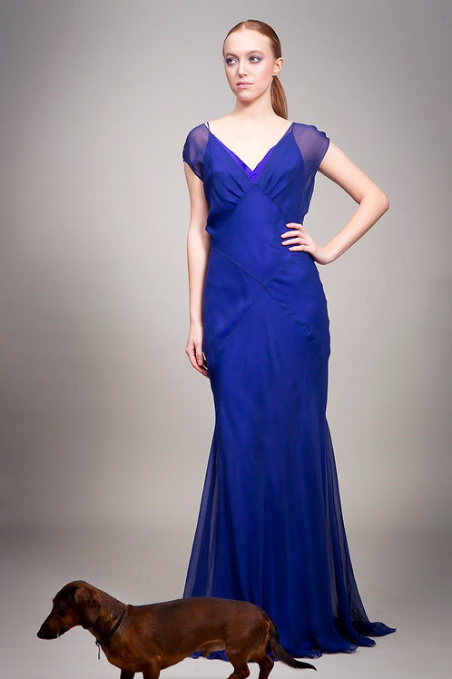 Deep Blue Elisa Dress