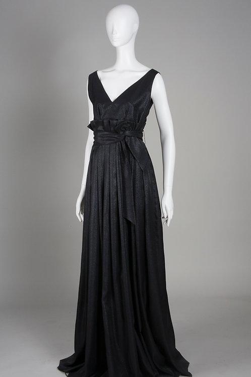 Black Metallic Gown