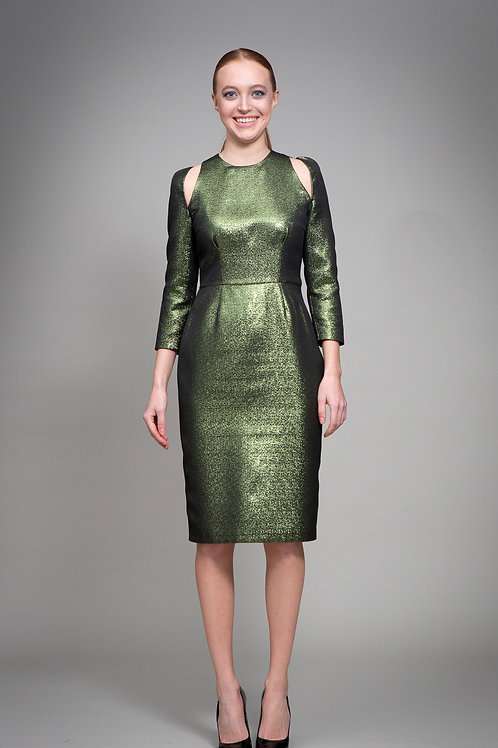 Green Metallic Lenore Dress