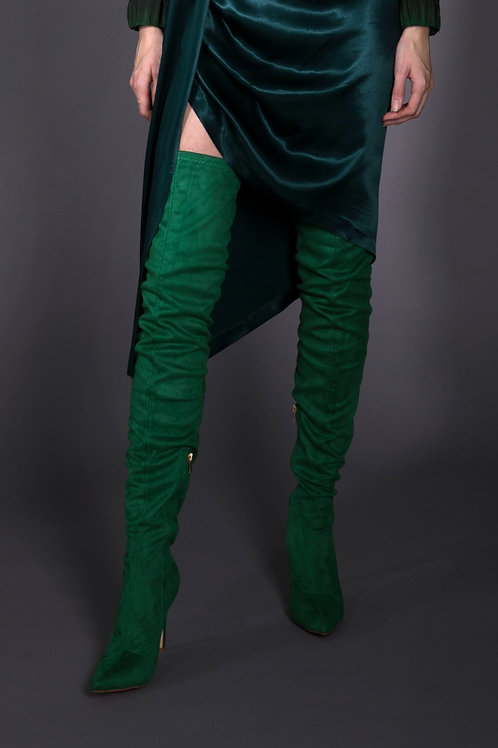 Green Thigh High Boots