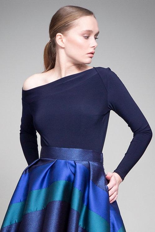 Midnight Blue One Shoulder Body