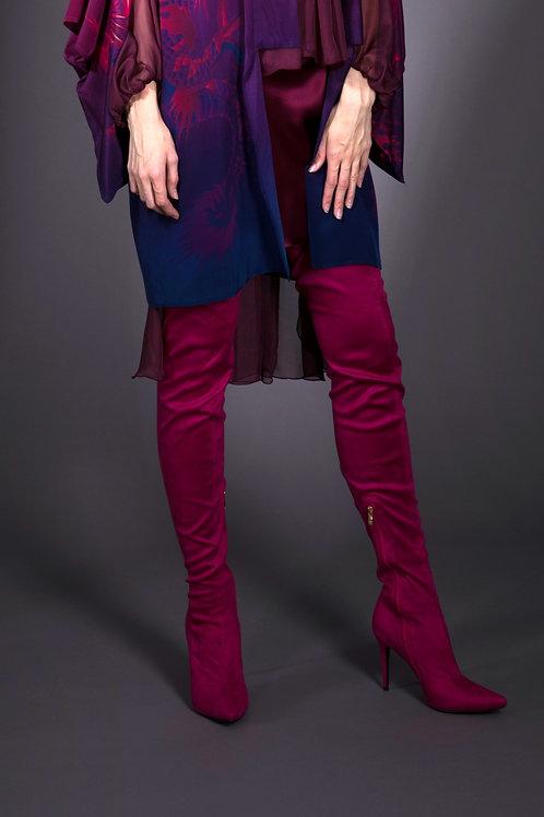 Fuchsia Thigh High Boots