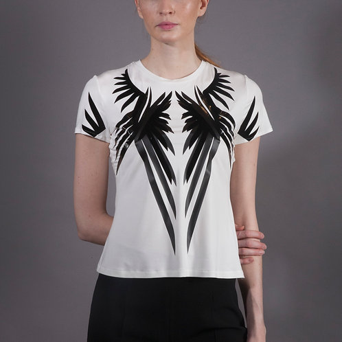 White Bamboo Wings T Shirt