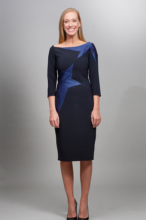 Black Kira Dress with Stars