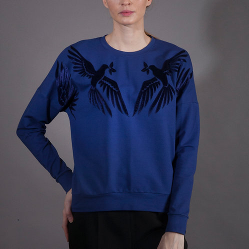 Lovebirds Sweatshirt Blue