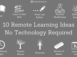 10 Remote Learning Ideas No Tech Require