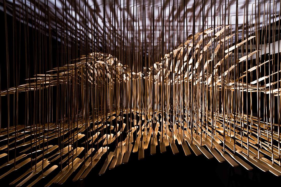 Bamboo installation art
