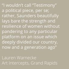 Lauren Warnecke on Testimony