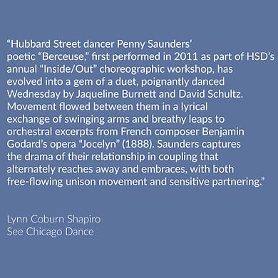 Lynn Coburn Shapiro on Berceuse