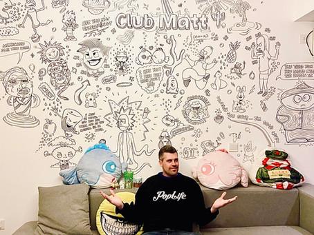 character mural - my wall at home