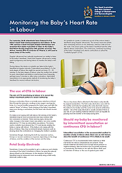 Fetal monitoring in labour