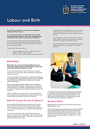 Labour and birth
