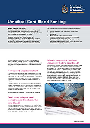 Umbilical cord blood blanking