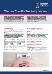 Weight and weight gain in pregnacy