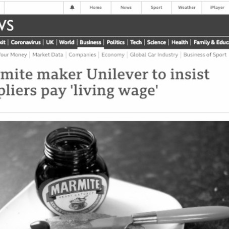 Trustonomics in action: Unilever to insists its suppliers pay 'living wage'