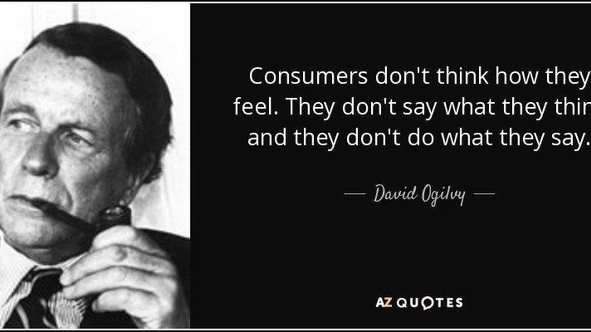 Consumers don't think how they feel