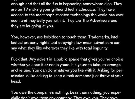 Banksy on advertising