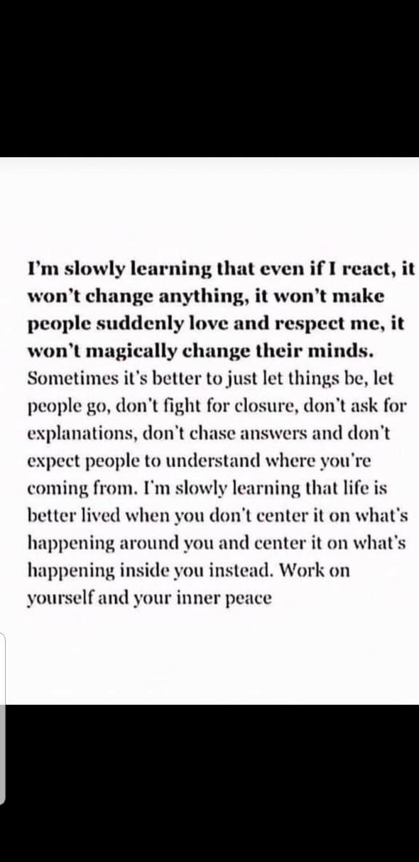 Don't react. Take responsibility.