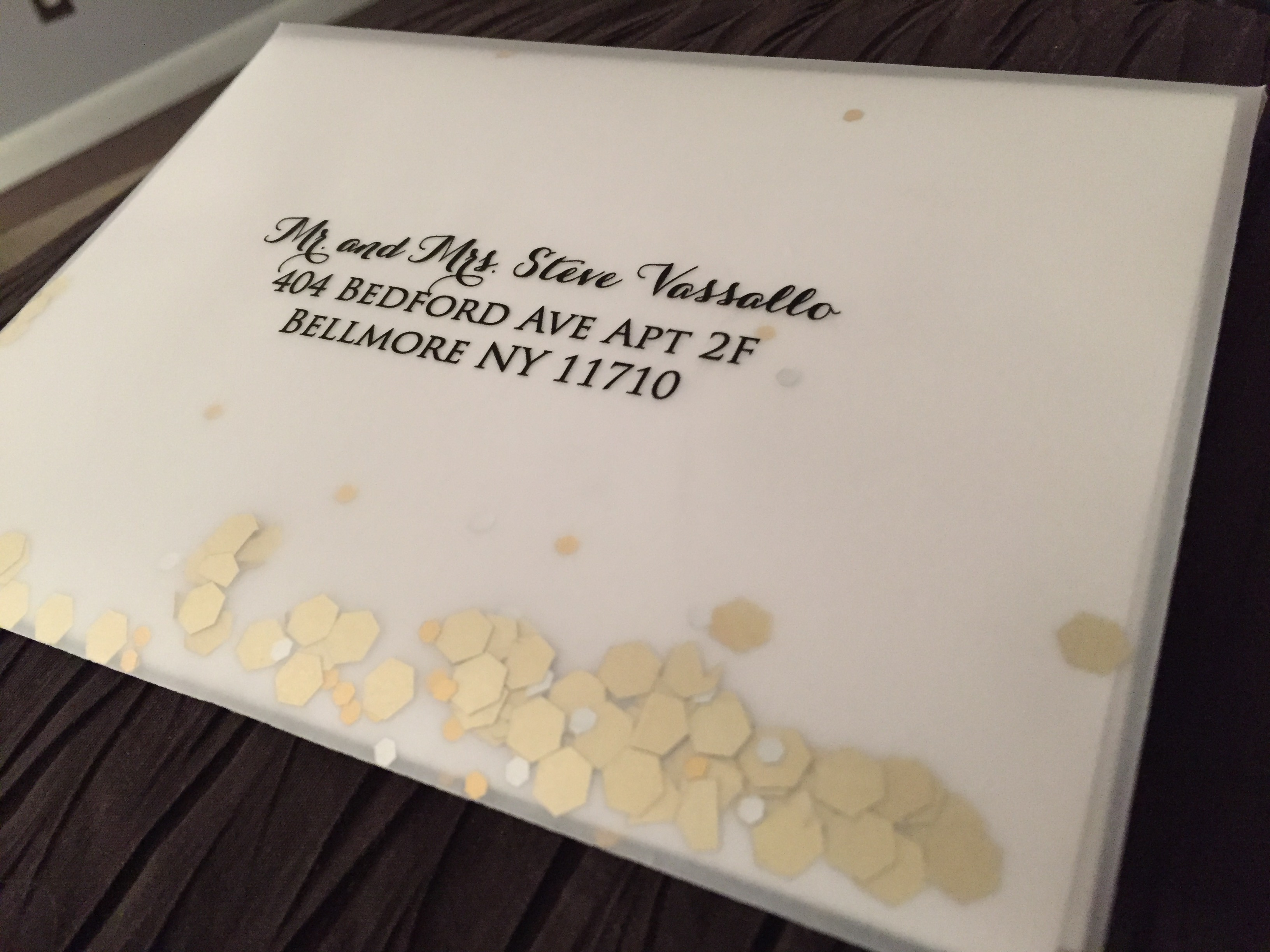 Vellum Envelopes with Glitter