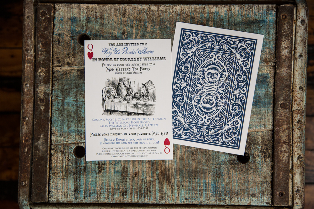 Alice in Wonderland Shower Invitatio