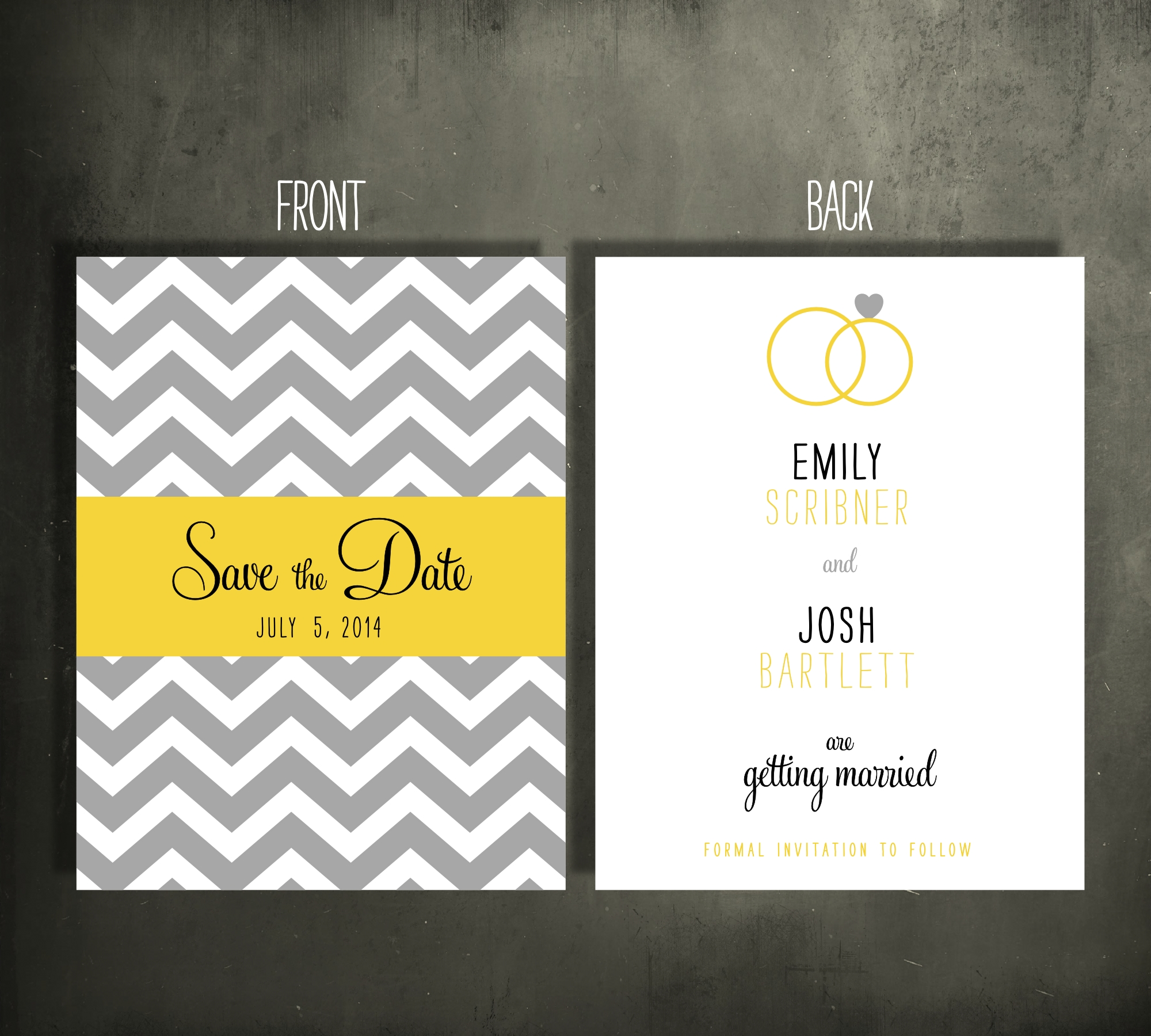 Chevron Rings Save the Date