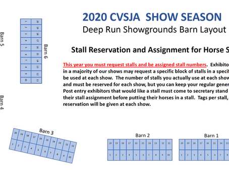 New Show Stall Reservation Information
