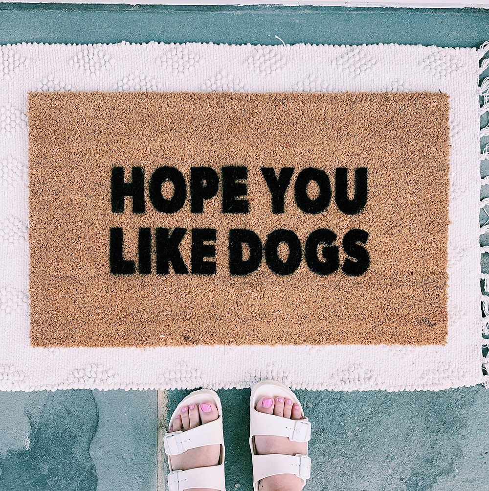 """""""Hope You Like Dogs"""" Doormat"""