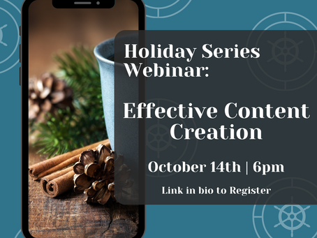 Holiday Webinar: Effective Content Creation