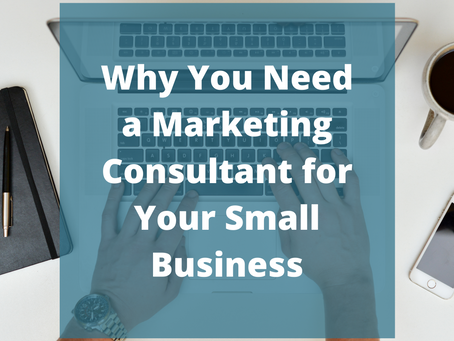 Why You Need a Marketing Consultant For Your Small Business