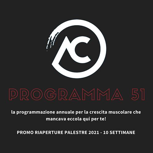 PROGRAMMA DI ALLENAMENTO 10 SETTIMANE